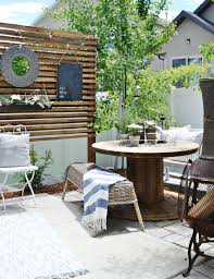 Small Patio Ideas On A Budget Small Patio Solutions How To Build A Privacy Trellis My