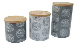 lcm home fashions inc ceramic 3 piece kitchen canister set