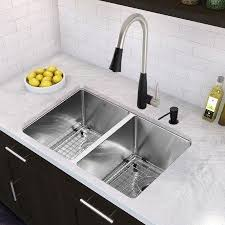 vigo stainless steel pull out kitchen faucet vigo milburn single handle pull spray kitchen faucet stainless