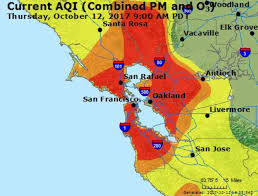 san francisco map california santa rosa leads to worst air quality on record in san