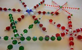 twelve days of jewelry designs 4 beaded snowflakes