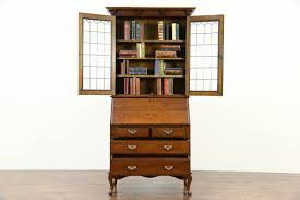 secretary desk with bookcase bookcase view antique oak secretary desk with bookcase home design