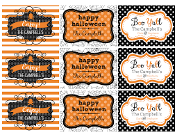 halloween printable gifts tags personalized 8 00 via etsy