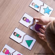 printable paper puzzles shape matching puzzles for toddlers simple fun for kids