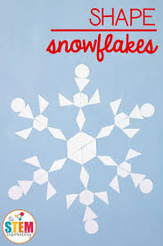 awesome shape snowflakes craft and math activity in one perfect