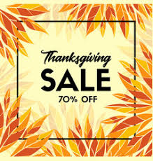 thanksgiving sale banner promo template royalty free vector