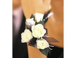 Black And White Corsage Black And White Wrist Corsage