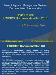 eqhsms documetation kit by global manager group occupational