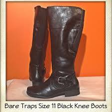 s boots size 11 wide calf nwot bare traps black wide calf boots calf boots knee boot and