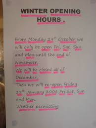 hartside cafe winter opening hours