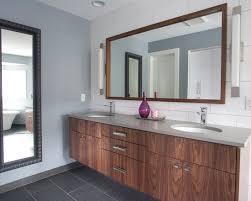 Walnut Bathroom Vanity Bathroom Vanity The Floors Walnut Cab Gray Countertops