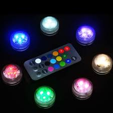 200pcs lot waterproof candles submersible led lights with cr2032