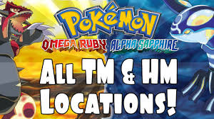 Omega Ruby Pokemon Omega Ruby And Alpha Sapphire All Tm And Hm Locations