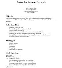 sle resume for bartender position available immediately through iquote objective for bartender resume frightening exle sle