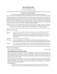 Resume Samples For Electricians by Download Avionics System Engineer Sample Resume