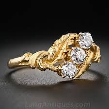 nouveau engagement rings engagement rings a backward glance aju