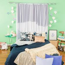 Curtains For Headboard Diy These Dreamy Af Mermaid Curtains In 30 Minutes Brit Co