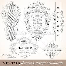 vector clipart fancy ornaments and wedding frame set snap vectors