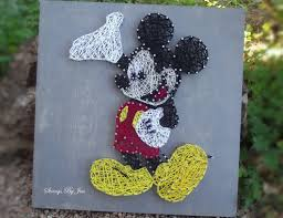 mickey mouse wall art string art disney home decor wood sign