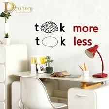 compare prices on wall talk decals online shopping buy low price talk less work more home decor wall sticker kids room study room lettering art poster sofa