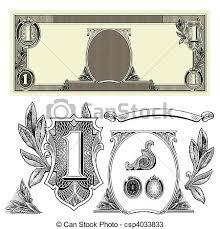 vectors of vector money elements set of detailed vector