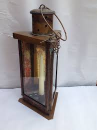 revere lantern 15in excluding loop antique brass triangle candle barn