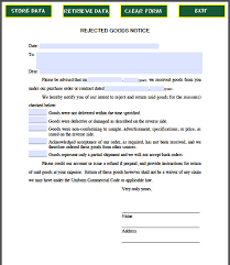 Rejecting Goods Letter rejected goods notice free fillable pdf forms free fillable pdf