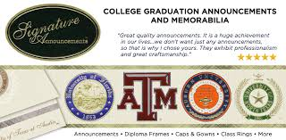 college graduation invites signature announcements
