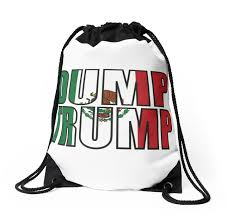 dump trump mexican flag