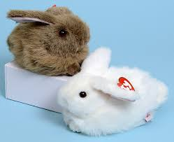 classic rabbit nibbles brown ty classic plush