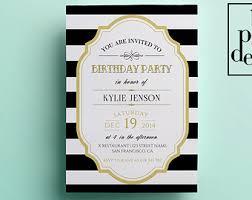 elegant birthday invitation template printable birthday
