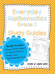 everyday math review u0026 study guides units 1 9 grade 3 updated