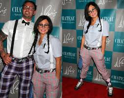 nerd costumes for halloween jenni u0027jwoww u0027 farley and roger mathews photos celebrity