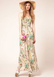 multicolor floral top fascia floor length polyester dress going