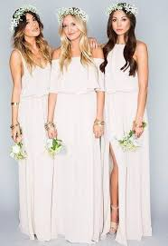 bridesmaid gowns chiffon bohemian bridesmaid dress with side split rdevine