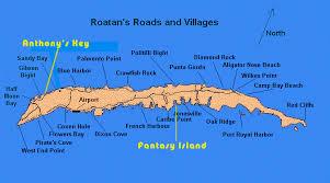 map of roatan honduras murphy s roatán tours