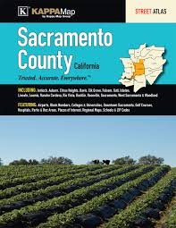 Sacramento Zip Code Map by Sacramento County Ca Street Atlas Kappa Map Group 9780762588343