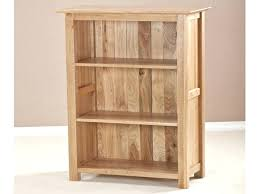 Pine Wood Bookshelf Bookcase Crisp White Finish Aspen Low Narrow 3 Shelf Bookcase