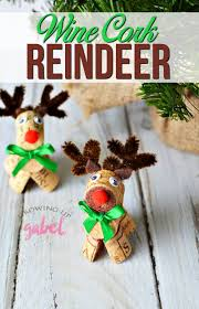 how to make adorable wine cork reindeer