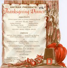 thanksgiving dinner menu 1970s amtrak history of america s