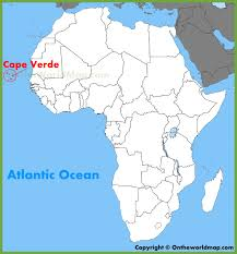 cape verde map world cape verde location on the africa map