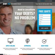 best debt fix advice service responsive free quote lead capture