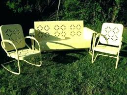 Retro Patio Furniture Sets Vintage Porch Gliders Vintage Metal Lawn Chairs Vintage Metal Lawn