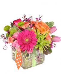 beaverton florist happy thoughts colorful bouquet in beaverton on garlands