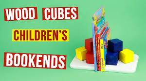 diy wood cubes children u0027s bookends youtube