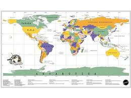 World Scratch Map by Scratch Map Deluxe World Map Poster Luckies Personal Travel Log