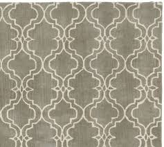 Pottery Barn Area Rugs Scroll Tile Rug Gray Pottery Barn