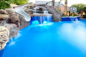 backyard oasis pool spa swim up bar grotto slides u0026 water