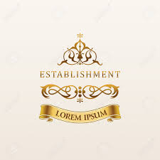 Luxurious Decorative Element Vintage Luxury Gold Emblem Elegant Calligraphic Decor On Vector