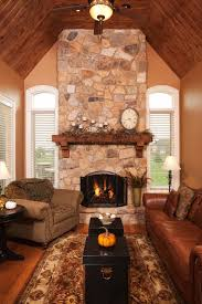 warm family room fireplaces inspired home life